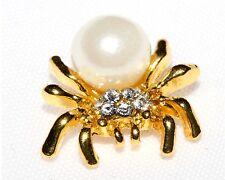 Nageldesign Nailart Gold Spinne Spider Strass Halloween Overlay Dark Gothic 1 St