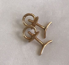 14K Yellow Gold Screw-Back Replacements w/ Posts Findings