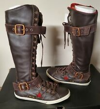 leather converse boots women's