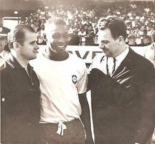 vintage photo World Soccer Football Legend PELE, ORMANDJIEV 1970 Morumbi Stadium