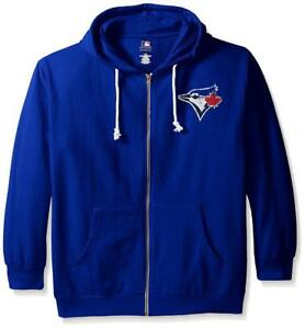 Too Cute! Licensed Toronto Blue Jays Women's Full Zip Hoodie Size Plus 2X ___S82