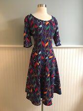 Size 2XL LulaRoe Purple Geometric Nicole Dress Retro Vintage Style 2X Plus