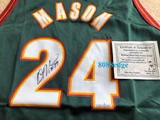 AUTHENTIC SEATTLE SONICS ROAD JERSEY AUTO: DESMOND MASON #120/200 AUTOGRAPH COA