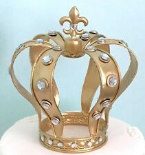Luxury Gold Color Metal Crown with Crystals Cake Topper Home Decor from USA 7.7""
