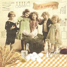 2 Serviettes en papier A la Campagne Decoupage Paper Napkins Countryside