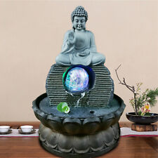Feng Shui Lucky Crafts Indoor Waterscape Auspicious Buddha Statue Home Decor US