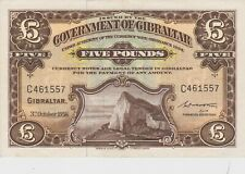 More details for p16c gibraltar five pounds banknote in near extremely fine condition dated 1958
