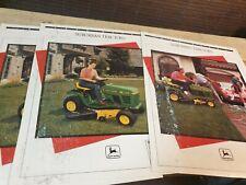 1990 & 1991 JOHN DEERE Suburban Tractors Original Sales Leaflets x 3