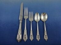 Rose Point by Wallace Sterling Silver Flatware Set for 8 Service 40 pcs Dinner