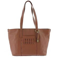 NWT $198  Lucky Brand Kingston Brandy Brown Leather Tote Bag Satchel