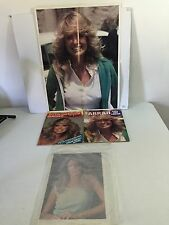 3 FARRAH FAWCETT ITEMS 2 MAGAZINES +PULL OUT 1977 1 SEALED IRON-ON TRANSFER 1977