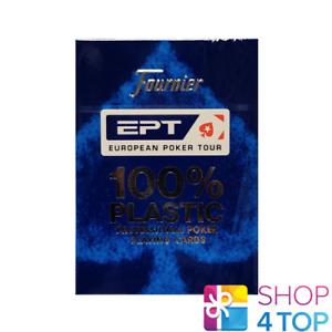 FOURNIER EPT BLUE EUROPEAN POKER TOUR CARDS 100% PLASTIC PROFESSIONAL DECK NEW