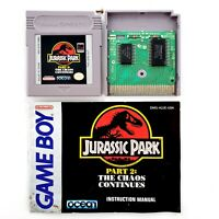 Jurassic Park Part 2: The Chaos Continues Nintendo Game Boy Authentic w/ Manual