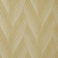 Modern Zig zag wave lines Yellow gold metallic faux fabric textured Wallpaper 3D