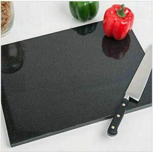 SMALL THICK & HEAVY, Rectangular Black Granite Chopping Board Work Top Saver