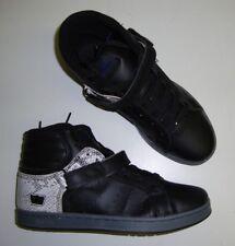 Supra suprano Zapatillas Hi / Zapatillas de Skate Negro 41 NUEVO