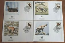 Albania 1990 Set Of 4 Stamp FDC's - WWF Rupicapra - MINT