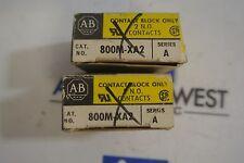 Lot of 2 New in box 800M-XA2 ser A contact block 2 NO contacts