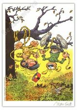 Ex-libris Solé Hommage à Franquin Gaston 250ex signé 14,5x20,5