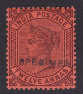 India. SG 100s, 12a specimen. Mounted mint.