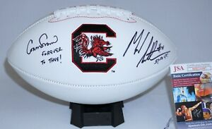 Connor Shaw and Marcus Lattimore Signed USC Gamecocks Football JSA HH23597 Cocks