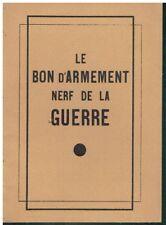 Le bon d'armement nerf de la guerre 1936 Ministère de la guerre Propagande
