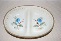 Stangl Pottery Blue Daisy 2 Part Divided Serving Dish Trenton New Jersey Vintage