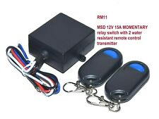 12v 15a Momentary Contact Switch With 2 Wireless Remote Control Key Fobs RM11