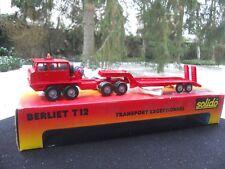 SOLIDO 7013 BERLIET T12 COFFRET TRANSPORT EXCEPTIONNEL COULEUR ROUGE ETAT NEUF