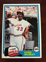 1981 Topps Baseball - You Pick - Complete Your Set