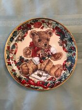 Teddy's First Christmas Franklin Mint Heirloom Plate By Sarah Bengry