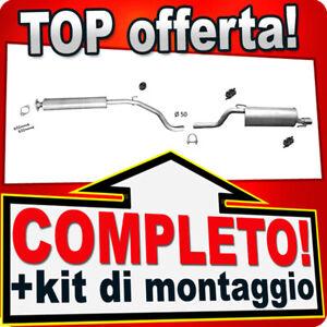Scarico Completo per ALFA ROMEO MITO e FIAT GRANDE PUNTO 1.4 T-je Marmitta