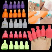 JW_ 5× Toenail Soak Off Clip Caps Nail Art Tips Polish UV Gel Clamp Remover W