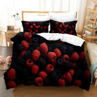 Bayberry Mulberry 3D Print Duvet Quilt Doona Covers Pillow Case Bedding Sets
