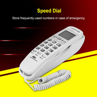 Corded Phone With Caller ID Home Office Desk Wall Mount Landline Telephone