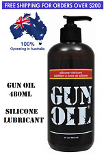 Gun Oil Silicone Based Lubricant Pump Pack 16oz / 480ml Toy Safe Personal Lube
