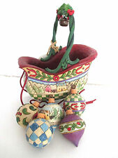 JIM SHORE Sleigh Bells Ring #4009195 Five Christmas Ornaments & Sleigh