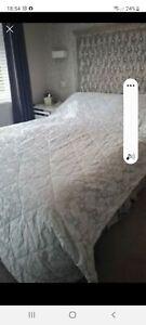 Dorma Double Throw Silver Grey/blue