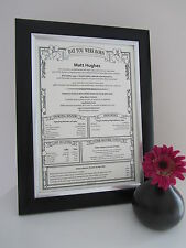 40th 50th Unique Personalised Birthday Gift Present Scroll FAST DELIVERY