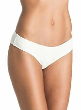 NWT Women's Roxy Lacy Days Cheeky Scooter White Bikini Bottoms Size Large