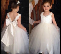 Flower Girl Wedding Dresses Bridesmaid Communion Birthday Princess Party Gown