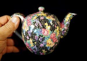 Beautiful Vintage Hallton Ware Japan Chintz Small Teapot