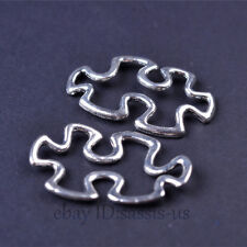 30pcs 30mm Charms jigsaw puzzle Pendant Connector Tibet Silver DIY Jewelry A7469