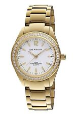 Ray Winton Women's WI0099 White Dial Gold Stainless Steel Bracelet Watch