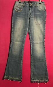 Hippie Boot Cut Denim Jeans Women US Sizes 8 - 13 Blue Washed