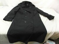 US Army Dress Uniform Black Trench Overcoat All Weather ASU Coat Jacket 8S WOMEN