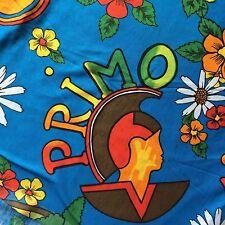 Hawaii Primo Surf Line Aloha Surfer Palm Trees Leis Bird Pipeline  Blue Fabric