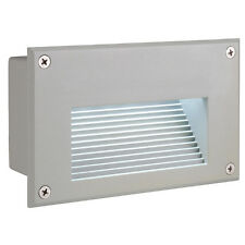 SLV 229701 Brick LED Downunder Wall Light Rectangular Silvergrey White LED