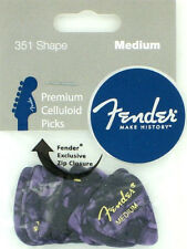 Fender 351 Celluloid Guitar Picks 12-medium Purple Moto