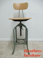Vintage Toledo Industrial Tall Counter Swivel Bar Stool Chair  D